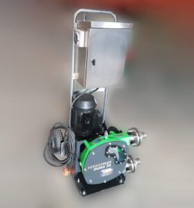Mobile Peristaltic Hose Pump for Waste Chemical Recovery