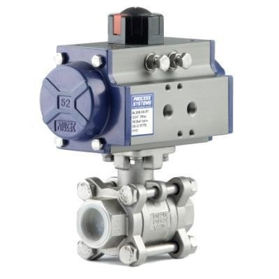 SS Spring Return Ball Valve
