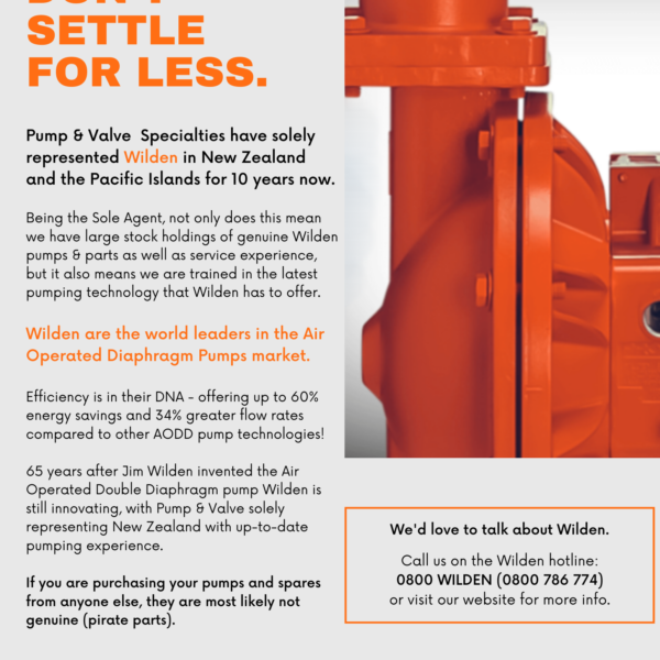 Pump & Valve Wilden Pumps and Parts - Sole Agency New Zealand